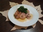 Pork Piccata with Brown Rice Mushroom Risotto and Garlic Sauteed Spinach